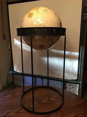 "Replogle 16"" Diameter Globe World Classic Series USA Floor Stand Metal Base"