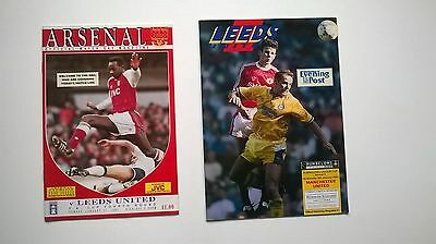 Leeds United Cup Programmes X 8   1989-1992  Fa Cup, Zenith Data, Rumbelows