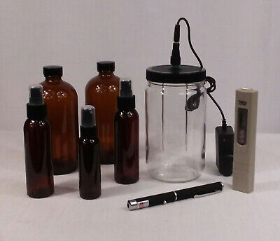 Colloidal Silver Generator QUART SIZE with 16 ounce AMBER GLASS STORAGE BOTTLES