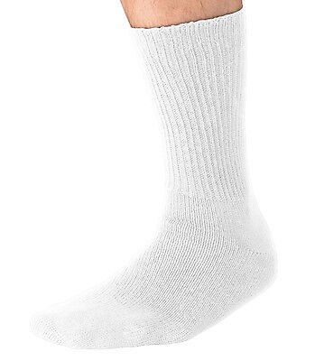 Men's Big and Tall King Size Diabetic Non-Binding Soft Cotton Crew Socks 3-Pack