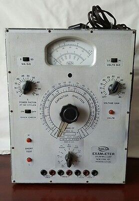 Vintage Exam-eter Capacitor Analyzer Tester