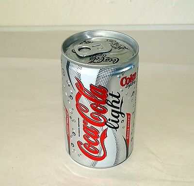 """Unopened Full Coca Cola Light Mini Can - 3.5"""" High - Oct 2006 - France (c) 2004"""