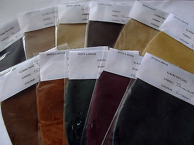 100% Suede Elbow / Patches / Trimmings In Fabuolous Striking Colours