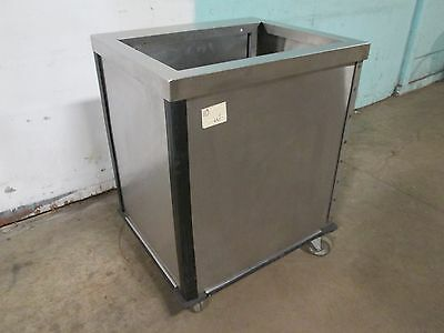 Heavy Duty Commercial S.s. Spring Loaded Mobile Serving Tray Dispenser/carrier