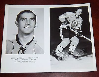 Paul Andrea Pittsburgh Penguins1969 -1970 team from the Woody Ryan Collection