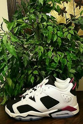 Nike Air Jordan 6 VI Retro Low GG White Fuchsia Black 768878-107 Size 7Y