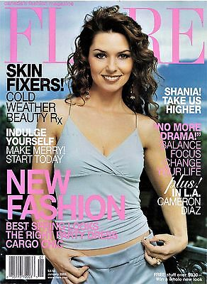 RARE **  FLARE FASHION Magazine - 2003 - SHANIA TWAIN !!!  AWESOME !!!