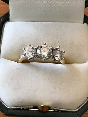 Trilogy Genuine Diamond 18ct Ring 1.74ct With Valuation