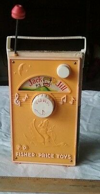 Fisher Price Music Box Tv Radio Jack And Jill Vintage Made In Switerland Toy