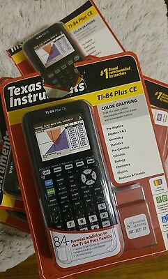 NEW Texas Instruments TI-84 Plus CE Color Graphing Calculator, Black