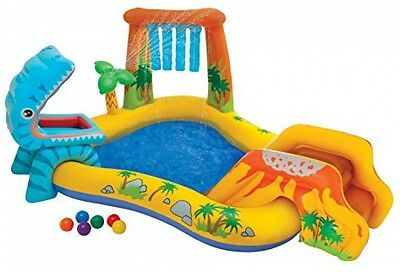 Kids Outdoor Inflatable Swimming Pool Play-Slide Center Water Playground