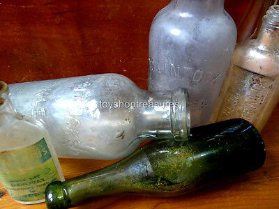 Antique Vintage Glass Apothecary bottles - Collection of 6