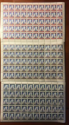FULL SHEETS OF Guatemala Democracy Stamps Lot Guad