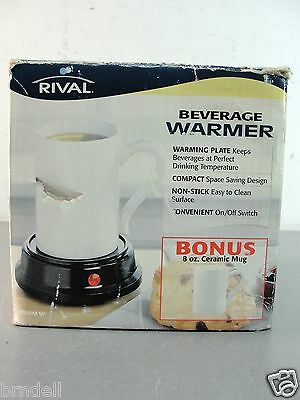 RIVAL ELECTRIC BEVERAGE COFFEE TEA SOUP WARMER w/ CUP MUG NEW IN BOX HOT PLATE