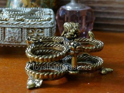 Vintage Gold and ROSES & French Shabby Chic Vintage Filigree LIPSTICK  Holders