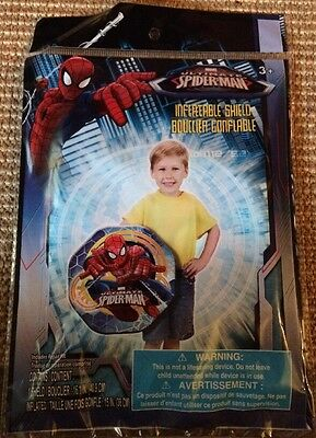 """Inflatable SHIELD - SPIDER MAN - 16"""" Kids Toy Spiderman Combat Boxing"""