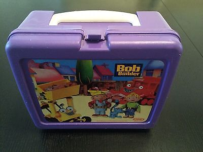 Vintage Thermos Plastic Bob The Builder Lunch Box 2001