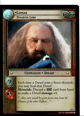 LOTR 9R5 FOIL Linnar Dwarven Lord TCG CCG Lord of the Rings Trading Cards