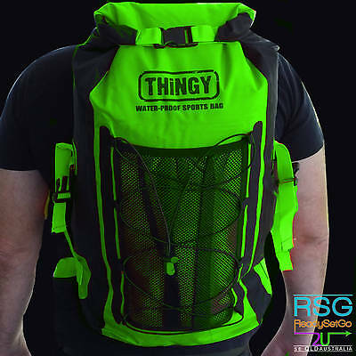 thingy 20L WATERPROOF BACKPACK BAG Outdoor Camping Fishing Hiking Sports Green