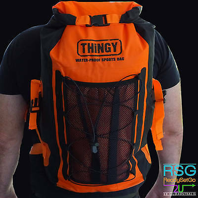 thingy 20L WATERPROOF BACKPACK BAG Outdoor Camping Fishing Hiking Sports Orange