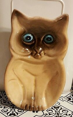 Stoneware Siamese Cat Figure - Made In Italy Spoon Rest