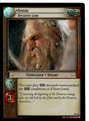 LOTR 9R10 FOIL SIndri Dwarven Lord  TCG CCG Lord of the Rings Trading Card
