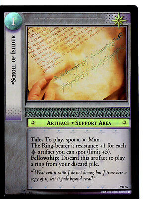 LOTR 9R36 FOIL Scroll of Isildur TCG CCG Lord of the Rings Trading Card