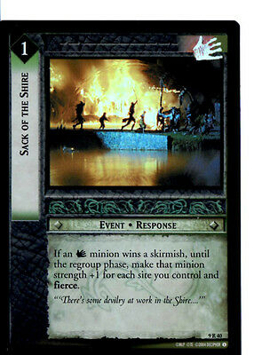 LOTR 9R40 FOIL Sack of The Shire TCG CCG Lord of the Rings Trading Card