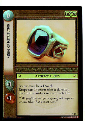 LOTR 9R9 FOIL Ring of Retribution TCG CCG Lord of the Rings Trading Card