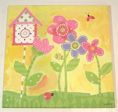 Oopsy Daisy Too Winborg Sisters Sunshine Yellow Flower Wall Hanging 21x21 Circo