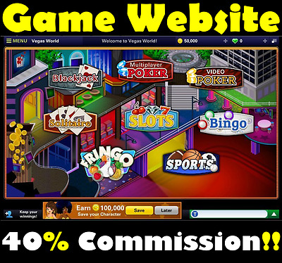 Game Website - Family Friendly - Make 40% Commission - For Sale - Home Business