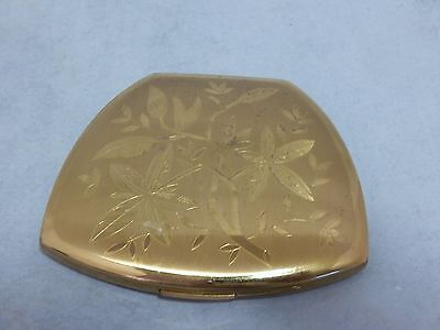Elgin American Gold Tone Vintage Powder Compact