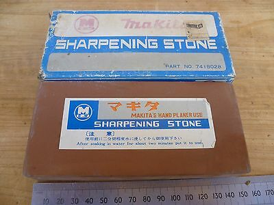 Vintage Old Makita Hand Planer Sharpening Stone, Old Tool (D233)