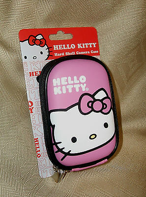 Cute Hello Kitty Hard Shell Camera Case Novelty Collectible Pink Black & White