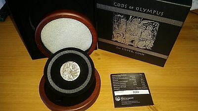 2014 Gods of Olympus – Zeus 2oz Silver High Relief Coin Perth Mint