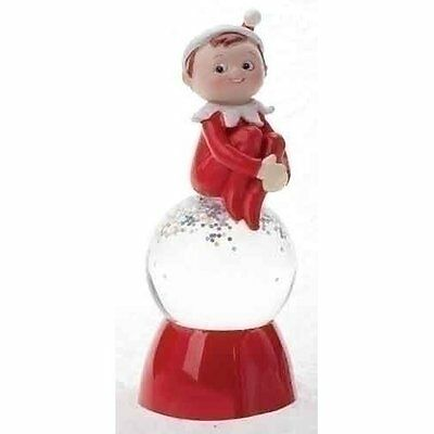 Elf On The Shelf Christmas Color Changing Snow Globe By Roman Chom New