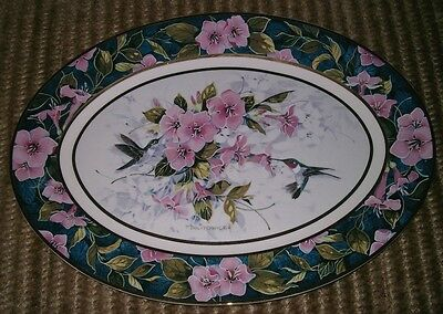 Franklin Mint Collectors Plate: The Hummingbird Garden by Theresa Politowicz