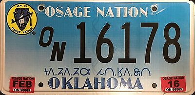 Oklahoma 'Osage Nation' Indian Tribe License Plate (ON16178)