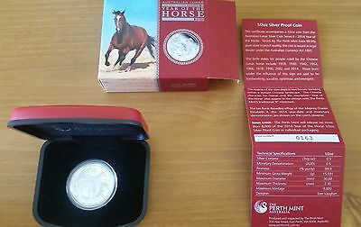 2014 Lunar Series II Year of the Horse 1/2oz Silver Proof Coin Perth Mint