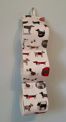 SALE! Toilet roll paper holder spare wall hanger Handmade 4 Dog lovers Drill