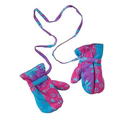 Baby Girls Fleece and Patchwork Mittens Large