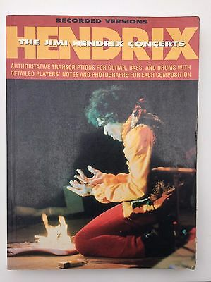 The Jimi Hendrix Concerts Guitar, Bass and Drums Tab book