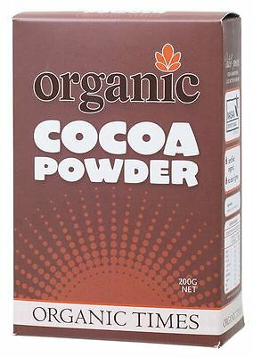 ORGANIC TIMES Cocoa Powder 200g x 2 boxes