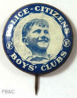 Police-Citizens Boy's Club 1/- Pin Badge