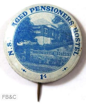 NSW Aged Pensioners Hostel 1/- Pin Badge
