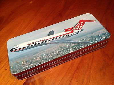 Vintage Old Australian Ansett, Ana Airlines Advertising Griffiths Tin
