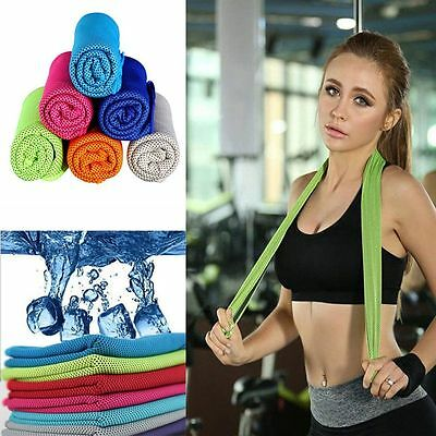 Jogging Gym Sports Instant Cooling Towel Ice Cold Chilly Pad