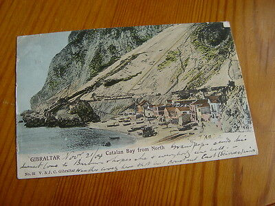 TOP3538- Undivided Back Postcard - Catalan Bay from North, Gibraltar 1904