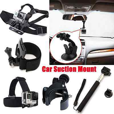 8 in 1 Accessories Set Kit Head Chest Mount for Gopro Hero 2 3 4 Black Silver