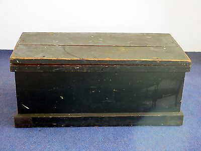 An Old Antique Victorian pine carpenters tool chest